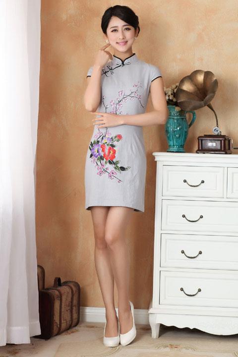 碗袖短身旗袍 (成衣)