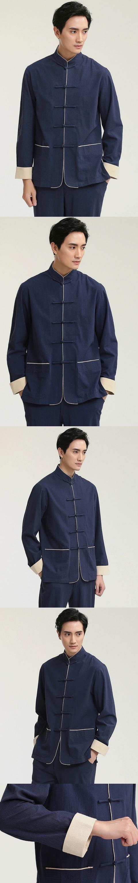 Mandarin Plain Soft Linen Shirt (RM)