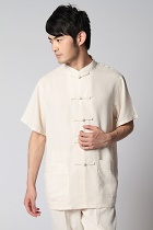 Linen Cotton Short-sleeve Chinese Ethnic Shirt (RM)