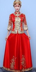 大紅新娘時尚裙掛