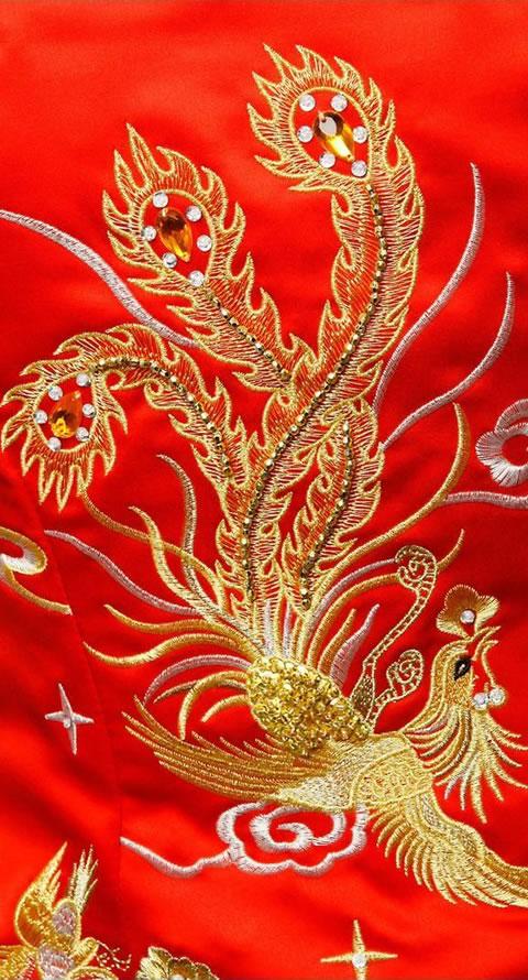 Handmade Dragon and Phoenix Qungua