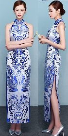 Cut-in-shoulder Magnificent Long-length Cheongsam (CM)