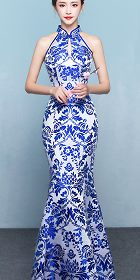 Cut-in-shoulder Fishtail Cheongsam (CM)