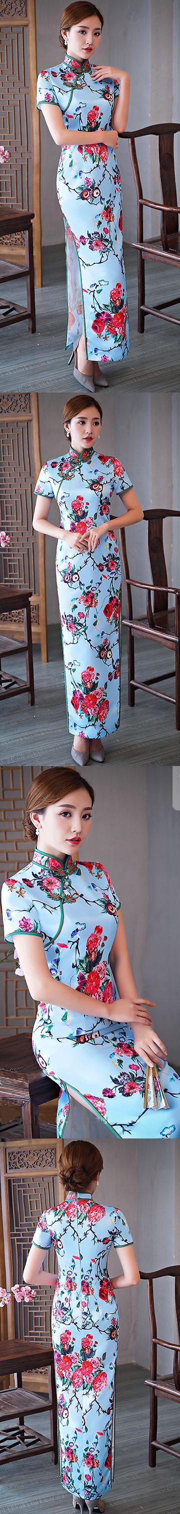短袖長身旗袍(定做)