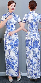 Short-sleeve Long-length Cheongsam (RM/CM)
