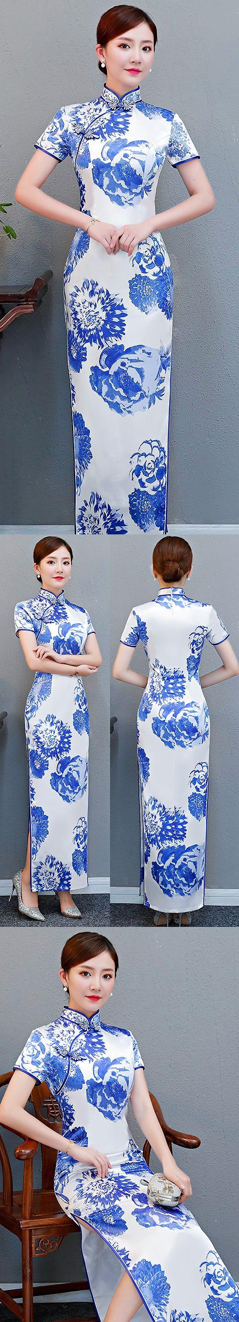 Short-sleeve Long-length Cheongsam (RM/CM)