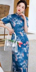 短袖長身旗袍(成衣)