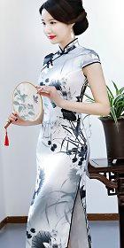 碗袖長身旗袍(成衣)