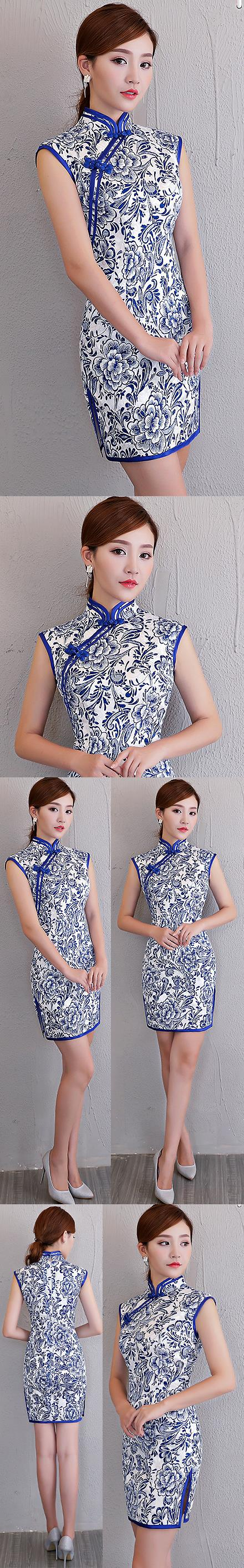 Sleeveless Short-length Cheongsam (RM)