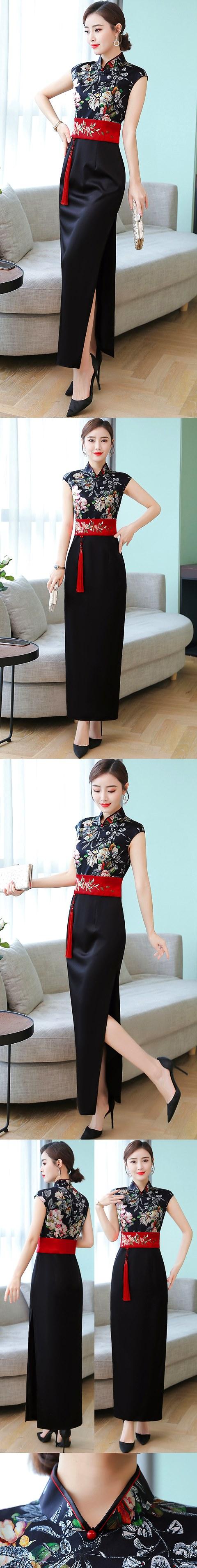 Cup-sleeve Modernized Chic Cheongsam (RM)