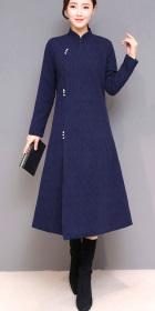 Modernized Robe Style Jacquard Cheongsam (RM)
