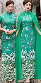 Short-sleeve Long-length Cheongsam (RM)