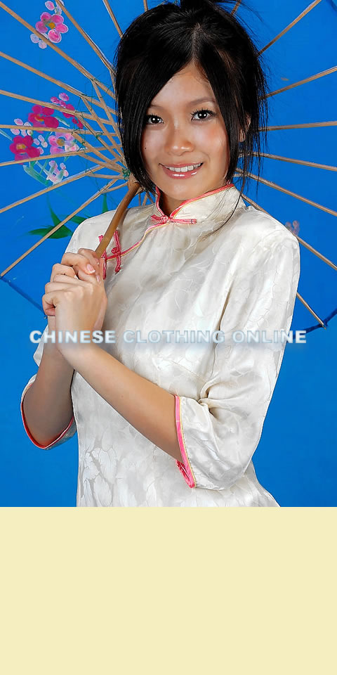 3/4-sleeve Long-length Cheongsam (CM)