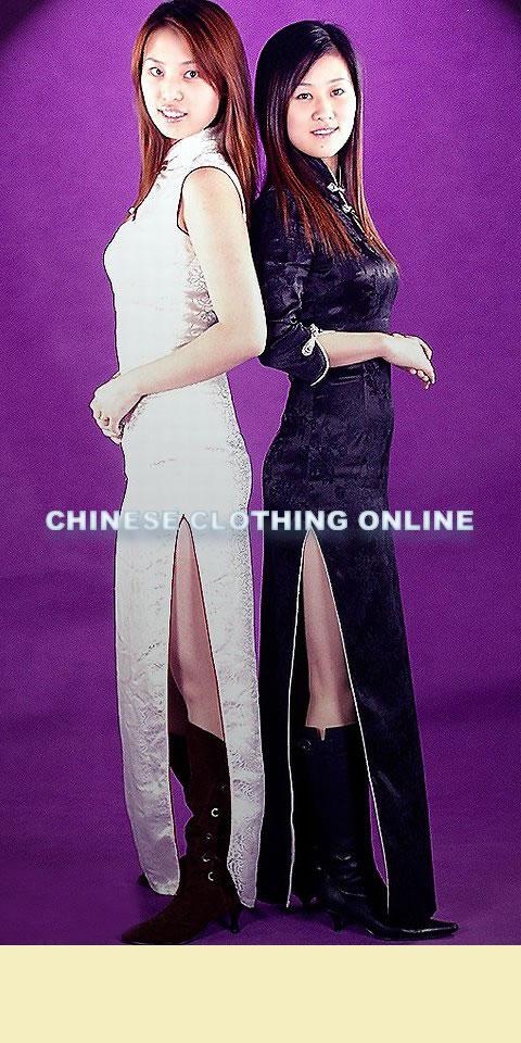 3/4-sleeve Long-length Cheongsam (CM)