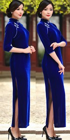 Long-sleeve Long-length Cheongsam (CM)