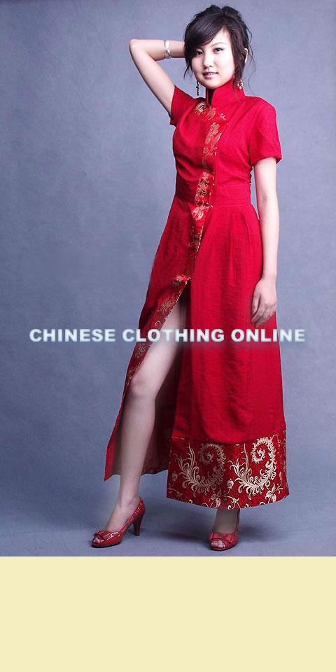 Short-sleeve A-line Cheongsam (CM)
