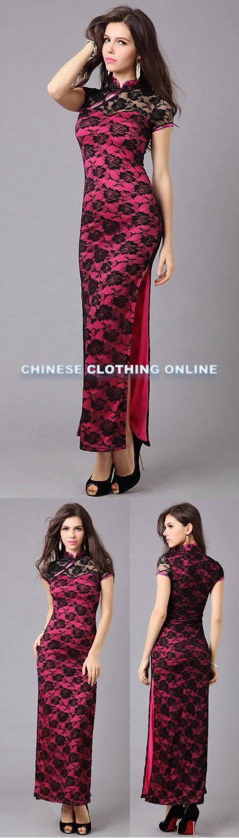 Bargain - Short-sleeve Long-length Cheongsam