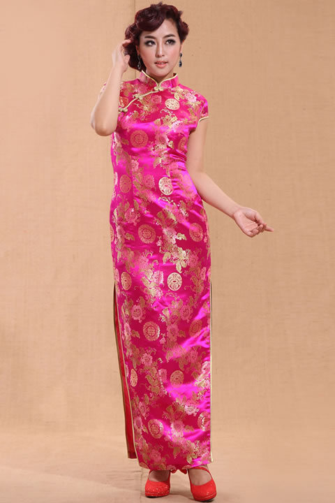 Cup-sleeve Long-length Cheongsam (CM)