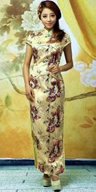 Bargain - Cup-sleeve Long-length Cheongsam (RM)