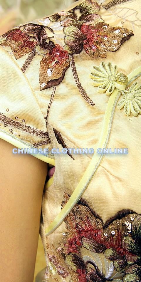 Bargain - Cup-sleeve Long-length Cheongsam (RM)