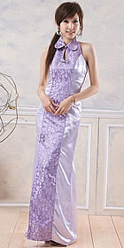 Cut-in Shoulders Front Slit Cheongsam (CM)