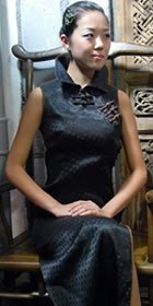 Sleeveless Vase Collar Long-length Cheongsam (CM)