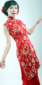 Sleeveless Long-length Skirt Cheongsam (CM)