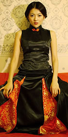 Sleeveless A-line Long-length Cheongsam (CM)