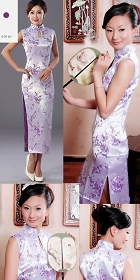 Sleeveless Long-length Brocade Cheongsam (RM)