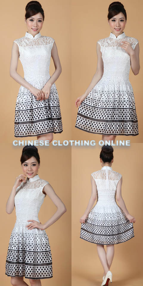 Sleeveless Short-length Embroidery Cheongsam (RM)
