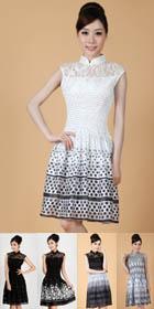Sleeveless Short-length Embroidery Cheongsam (RM)