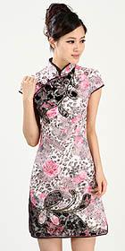 Cup-sleeve Short-length Embroidery Cheongsam (RM)
