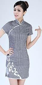 Short-sleeve Short-length Embroidery Cheongsam (RM)