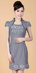 Puff-sleeve Short-length Embroidery Dress (RM)