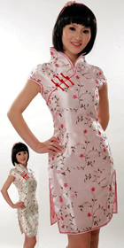 Cup-sleeve Short-length Brocade Cheongsam (RM)