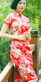 Short-sleeve Short-length Cheongsam (CM)