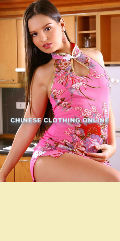 Cut-in Shoulders Bare-back Short-length Cheongsam (CM)