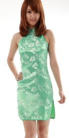 Cut-in Shoulders Short Cheongsam (CM)