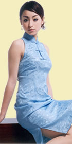 Cut-in Shoulders Short-length Cheongsam (CM)