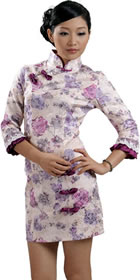 Elbow-sleeve Short-length Cheongsam (RM)