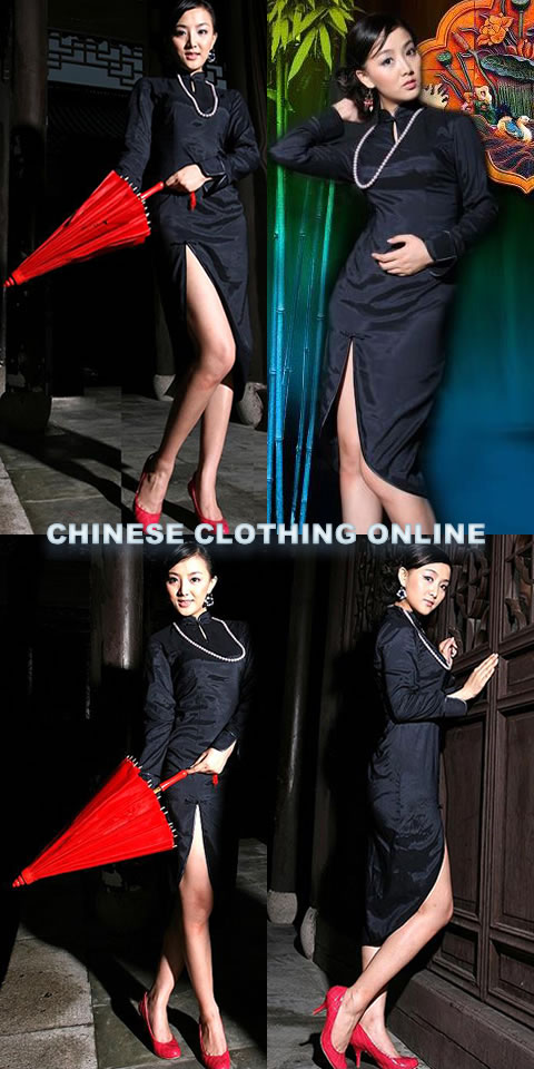 Long-sleeve Mid-length Cheongsam (CM)