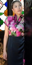 Cup-sleeve Mid-length Dress (CM)