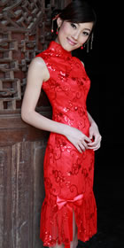 Sleeveless Mid-length Cheongsam (RM)