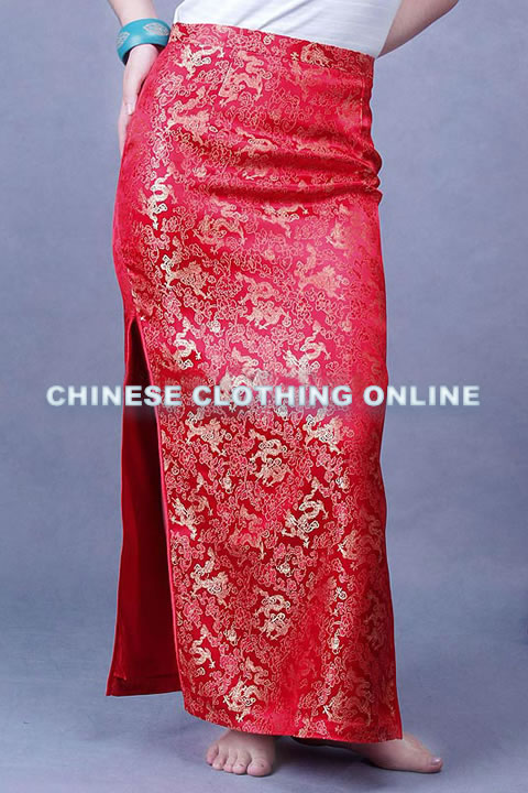 Embroidery Maxi Skirt (CM)