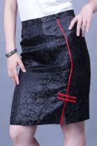 直身繡花短裙(定做)