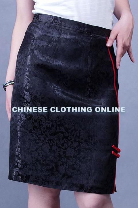 Cheongsam Style Short Embroidery Skirt (CM)