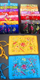Foldable Embroidery Jewelry Bag (Multicolor)