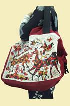 Large Sinicism Hand-carry Shoulder Bag