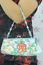 Hand Beading Embroidery Handbag with Paillettes