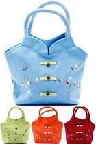 Cheongsam-shape Flower Embroidery Handbag (Multicolor)